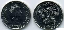 Канада 25 центов 2000 год (иностранные монеты)