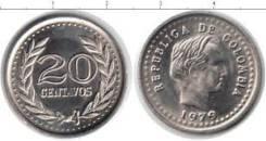 Колумбия 20 сентаво 1975 год (иностранные монеты)