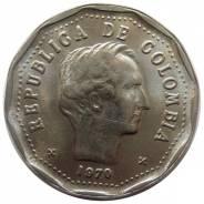 Колумбия 50 сентаво 1970 год (иностранные монеты)
