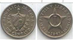 Куба 1 сентаво 1961 год (иностранные монеты)