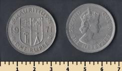 Маврикий 1 рупия 1971 год (иностранные монеты)