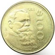 Мексика 100 песо 1985 год (иностранные монеты)