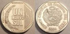 Перу 1 соль 1992 год (иностранные монеты)