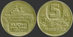 Финляндия 5 марок 1983 год (иностранные монеты)