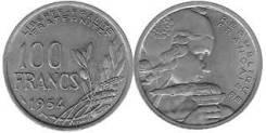 Франция 100 франков 1954 год (иностранные монеты)