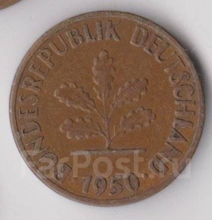 1 пфенниг 1950г. (J) ФРГ