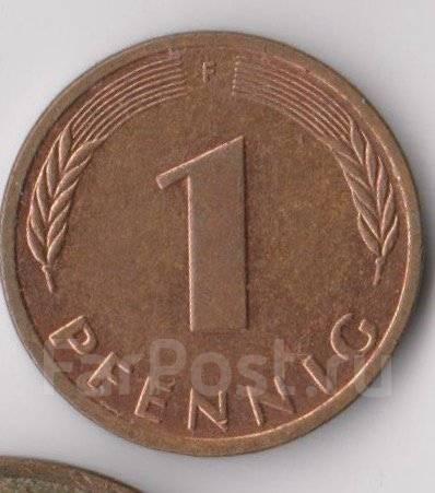 1 пфенниг 1996г. (F) ФРГ