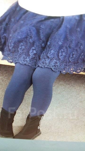 Тёплые лосины с юбкой! Новые. Рост: 116-122, 122-128 см
