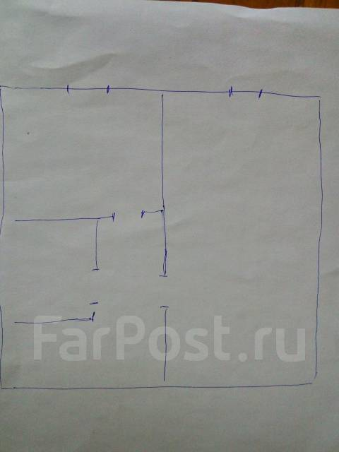 1-комнатная, улица Вилкова 12. Трудовая, частное лицо, 32 кв.м. План квартиры