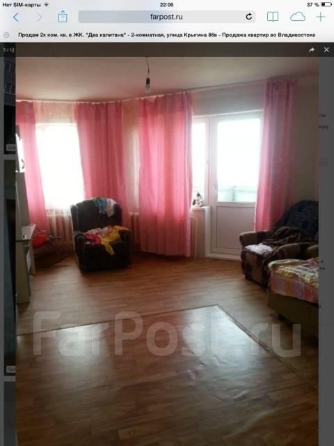 2-комнатная, улица Крыгина 86в. Эгершельд, частное лицо, 59 кв.м. Вторая фотография комнаты