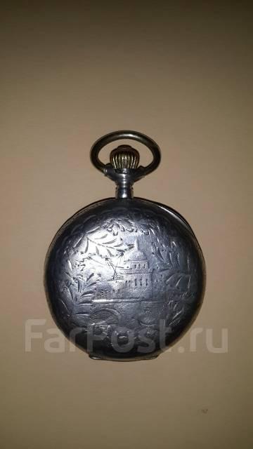 Часы с цепью. Колониальные. Англия. 19 век. Серебро 200 грамм. Оригинал