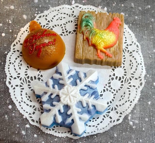 Мыло ручной работы в подарок на Новый год