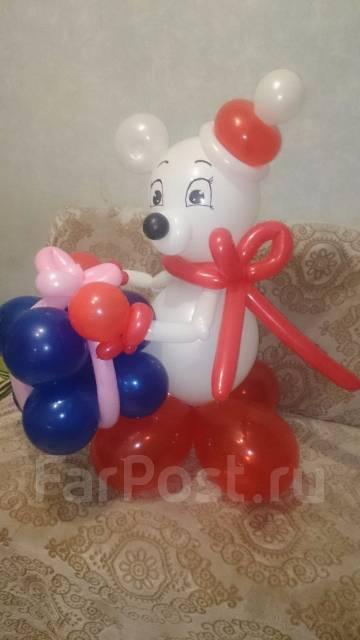 Новогоднии фигуры из шаров. Под заказ