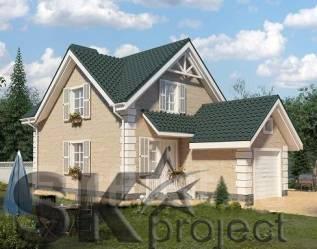 SK-project SK2 (Проект дома с гаражом). 100-200 кв. м., 2 этажа, 12 комнат, комбинированный