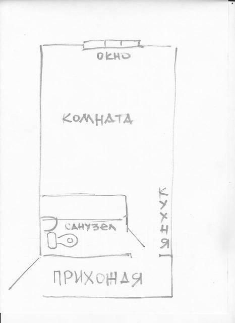 Гостинка, улица Зои Космодемьянской 31. Чуркин, частное лицо, 23 кв.м. План квартиры