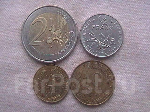 Франция , набор 4-е монеты .