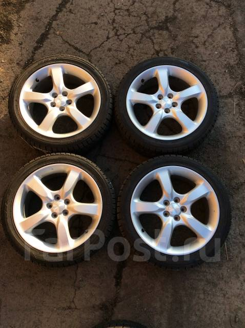 Продам хороший комплект колёс на Subaru. 7.0x17 5x100.00 ET55