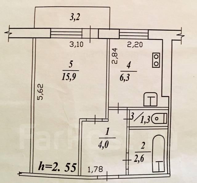 1-комнатная, шоссе Магистральное 45/1. Центральный, агентство, 31 кв.м.