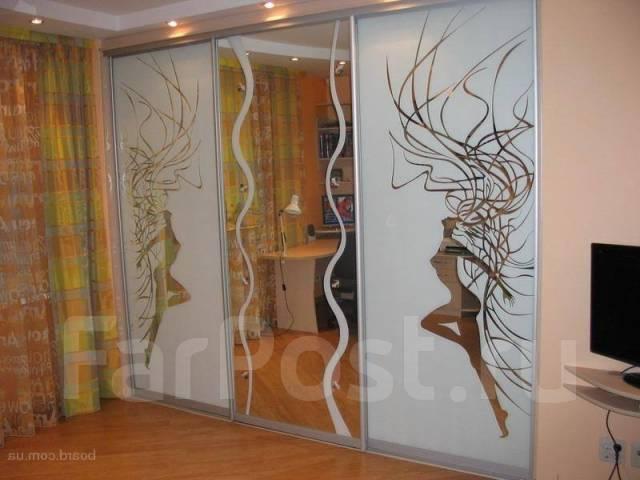 Резка стекла, зеркал, пескоструйное матирование. Изготовление
