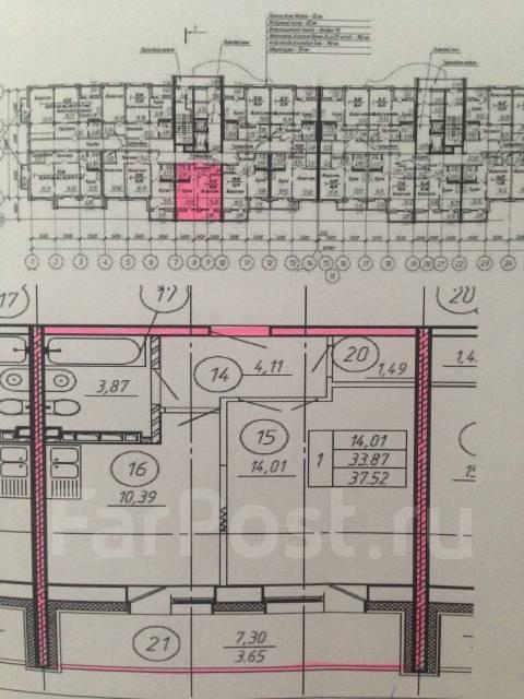 1-комнатная, улица Белинского 21. Сахпосёлок, частное лицо, 38 кв.м. План квартиры