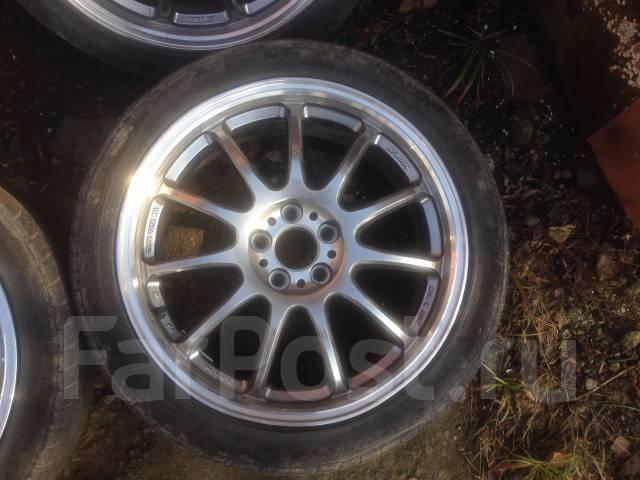 Комплект колес WOrk Emotion 11R в хорошем состоянии. Оригинал. 7.0x17 5x100.00 ET47 ЦО 60,0мм.