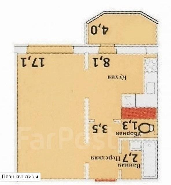 1-комнатная, улица Чичерина 153. междуречье, частное лицо, 35 кв.м.