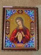 Икона вышитая бисером Пресвятой Богородицы «Помощь в родах»