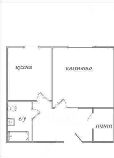 1-комнатная, улица Волкова 3. Тихая, агентство, 29 кв.м. План квартиры