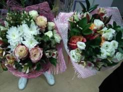 Цветы! Розы Эквадор! Букеты из конфет! Бесплатная доставка!