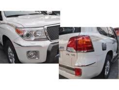 Накладка на бампер. Toyota Land Cruiser, GRJ200, J200, URJ200, URJ202, URJ202W, UZJ200, UZJ200W, VDJ200 Двигатели: 1GRFE, 1URFE, 1VDFTV, 3URFE