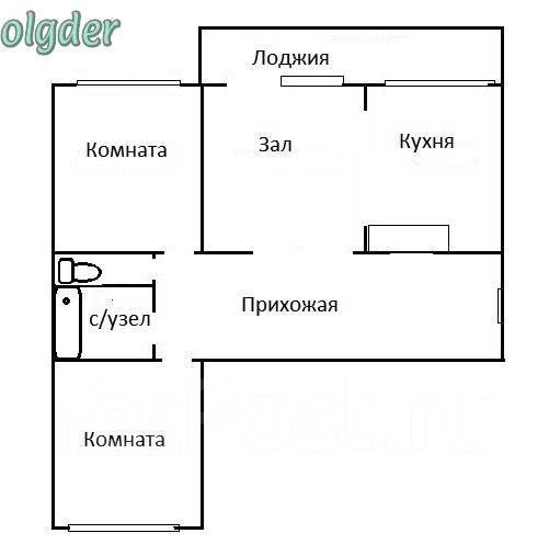 3-комнатная, улица Анны Щетининой 20. Снеговая падь, проверенное агентство, 68 кв.м. План квартиры