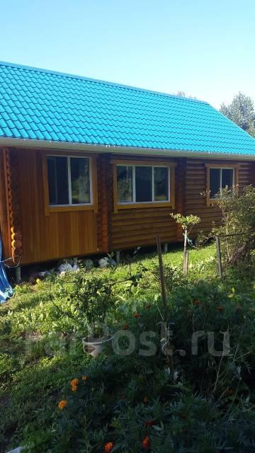Продается новый дом из оцилиндрованного бревна в с. Дубовый Ключ. С.Дубовый Ключ, р-н Уссурийск, площадь дома 80 кв.м., скважина, отопление электриче...