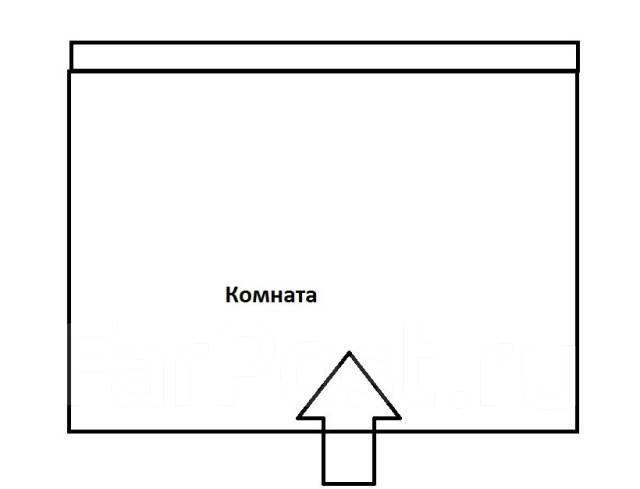 Комната, улица Шилкинская 15. Третья рабочая, агентство, 17 кв.м. План квартиры