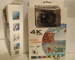 Экшн-камера WeeCam 4K / 60кадров/сек WIFI 16MP Отправка по России. 15 - 19.9 Мп, с объективом