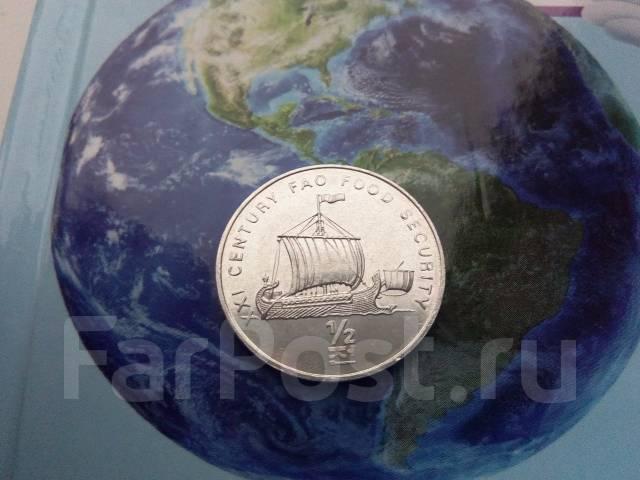 Северная Корея 1/2 чон 2002 ФАО парусник ладья корабль