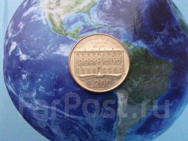 Италия 200 лир 1990 госсовет