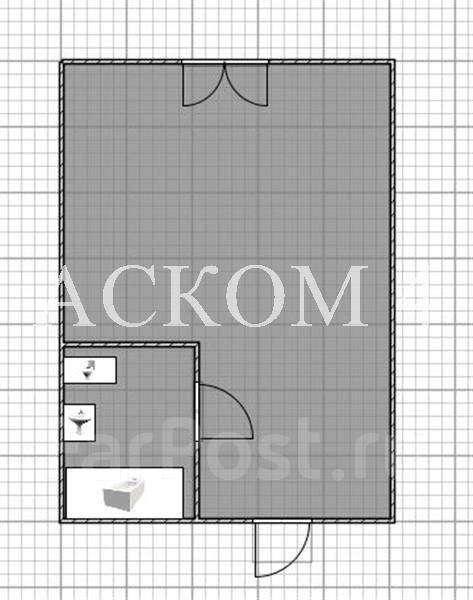 Гостинка, улица Черняховского 5в. 64, 71 микрорайоны, агентство, 20 кв.м. План квартиры