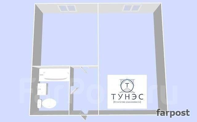 1-комнатная, улица Тунгусская 63. Гайдамак, проверенное агентство, 33 кв.м. План квартиры