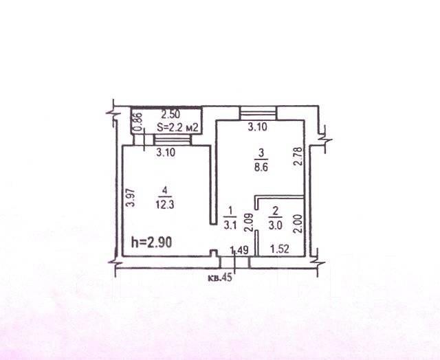 1-комнатная, квартал Солнечный город 26. Железнодорожный, агентство, 27 кв.м.