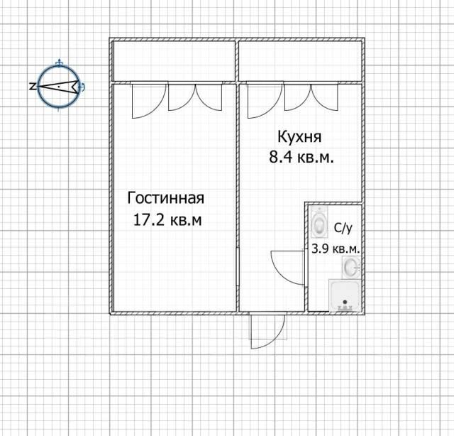 1-комнатная, улица Рабочий Городок 6. Центральный, агентство, 33 кв.м.