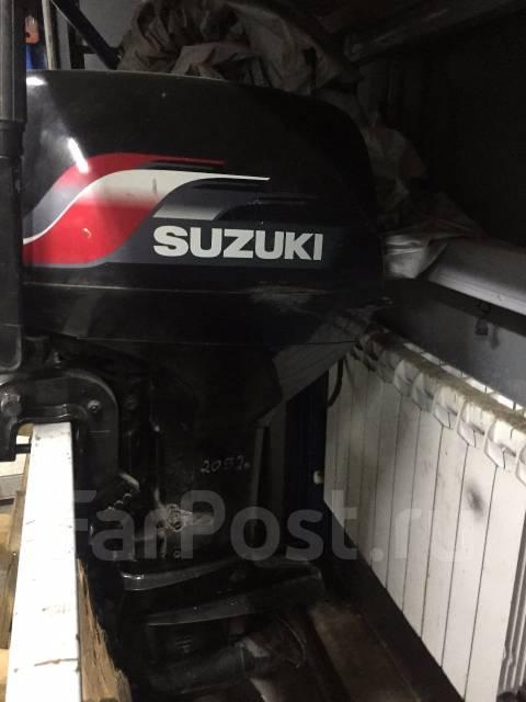 Suzuki. 40,00л.с., 2х тактный, бензин, нога L (508 мм), Год: 2009 год