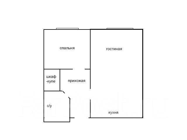 2-комнатная, улица Днепровская 22. Столетие, частное лицо, 36 кв.м. План квартиры