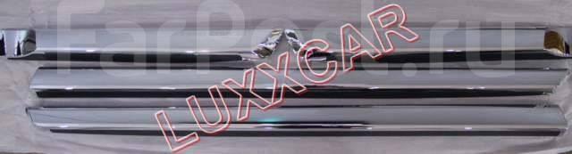Молдинги на двери Land cruiser 200 2016г Полный Хром. TOMY. Toyota Land Cruiser, VDJ200, URJ202, UZJ200, UZJ200W, URJ202W