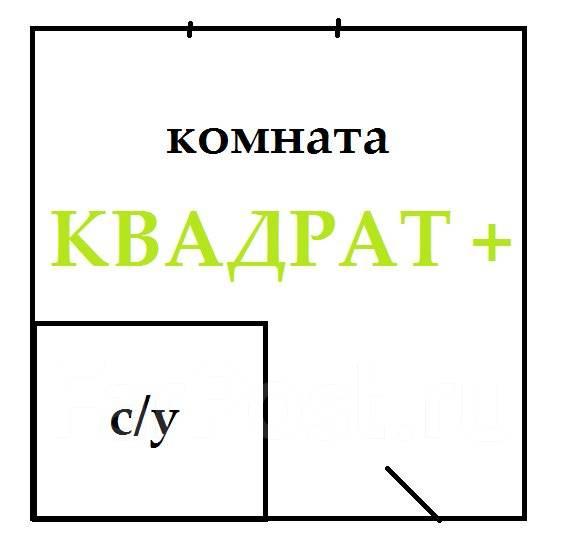 Гостинка, улица Сельская 10. Баляева, агентство, 18 кв.м. План квартиры