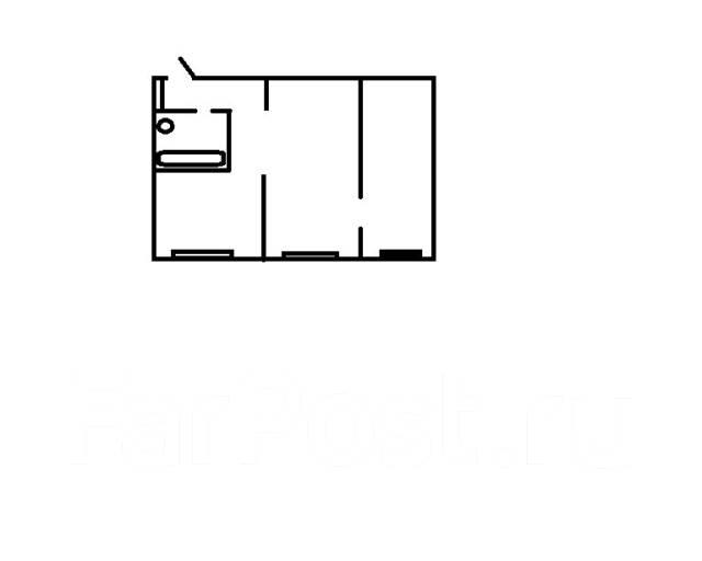 2-комнатная, улица Кирова 44. Вторая речка, частное лицо, 45 кв.м. План квартиры