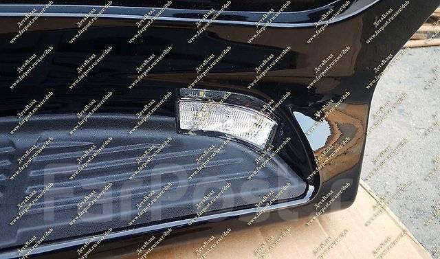 Подножки с подсветкой Land Cruiser 200 (Ленд Крузер) черные с 16г. -. Toyota Land Cruiser