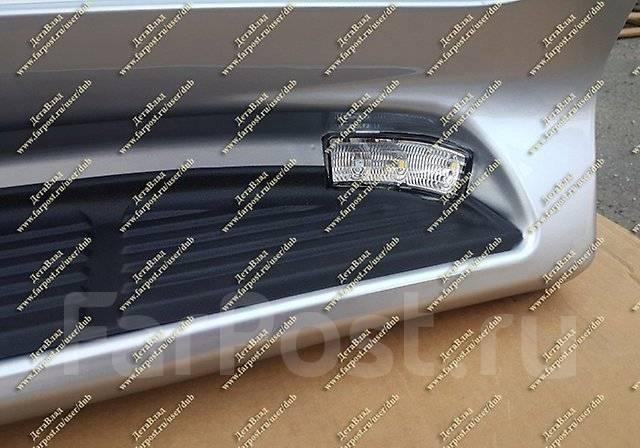 Подножки с подсветкой Land Cruiser 200(Ленд Крузер) серебристые с 16г-. Toyota Land Cruiser