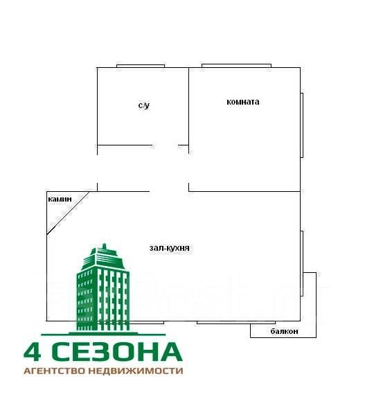 2-комнатная, улица Суханова 11. Центр, агентство, 90 кв.м. План квартиры