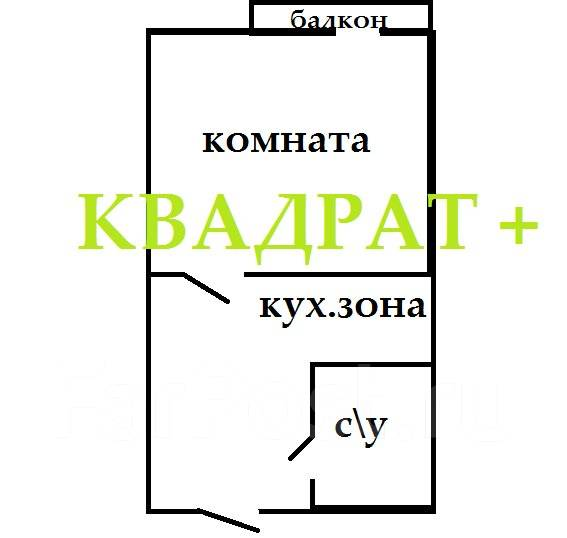 Гостинка, улица Надибаидзе 26. Чуркин, агентство, 26 кв.м. План квартиры