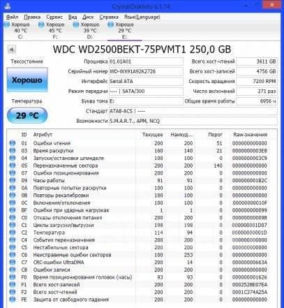 """2.5"""" SATA Western Digital 250 Гб"""